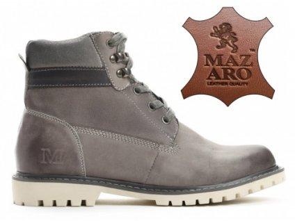 Dámské kotníkové boty zateplené trapery Mazaro SD86-7 světle šedé