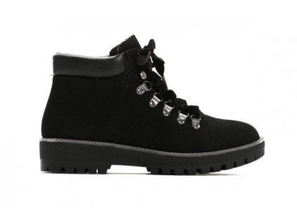 Dámské kotníkové boty trapery Vices semišové Timberki T028-1 černé