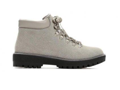 Dámské kotníkové boty trapery Vices semišové Timberki T028-5 šedé