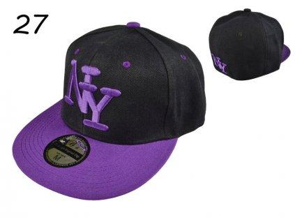 Skate kšiltovka čepka černofialová NY BARCLEYS AMERICAN CAP