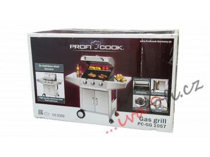 Plynový gril nerezový Profi Cook PC-GG 1057