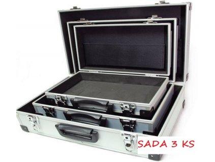 Sada 3 Ks hliníkový Alu kufr