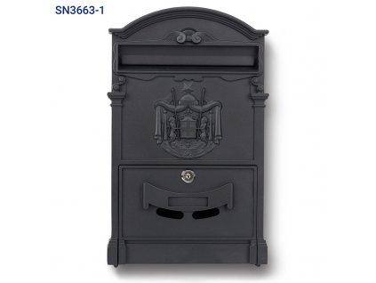 Poštovní schránka SN 3663-1 černá