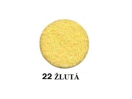 Froté prostěradlo 90/200 cm barva žlutá