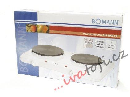 Vařič dvouplotýnkový Bomann DKP 5007 2500W