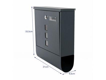 Poštovní schránka černá SN 3671