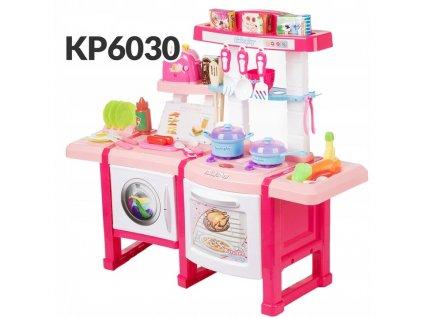 KINDERPLAY Dětská kuchyňka s troubou a toastrem KP6030 růžová