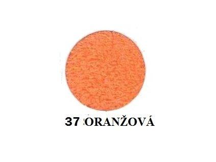 Froté prostěradlo 90/200 cm barva oranžová