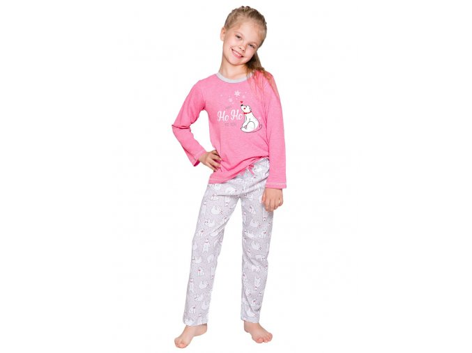 Dívčí pyžamo Oda s obrázkem medvěda Taro