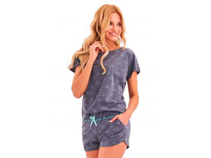 Dámské pyžamo Rozi se vzorem hvězdy Taro