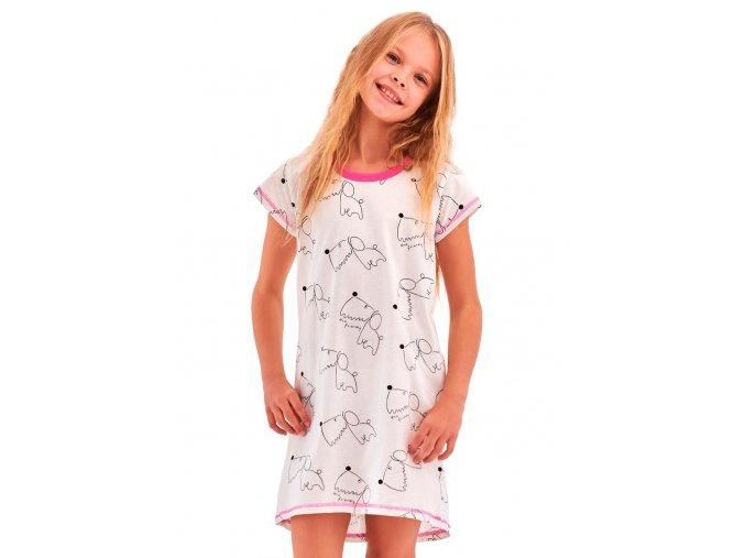 Dívčí noční košile Pepa se vzorem psů Taro