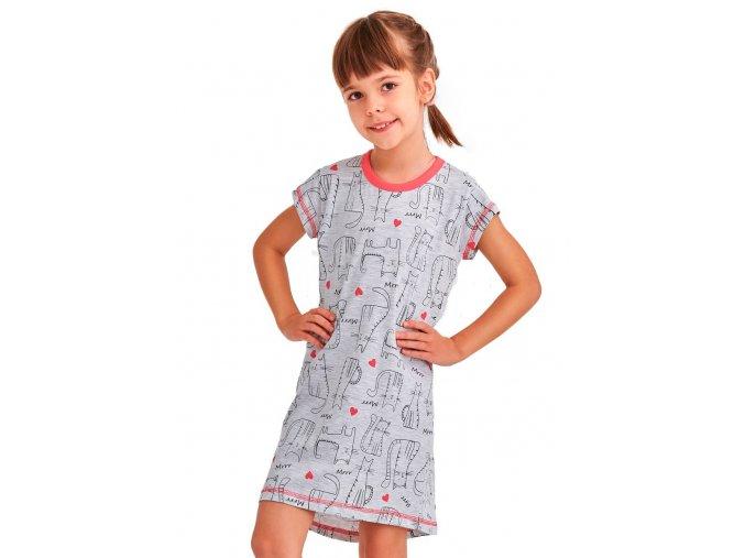 Dívčí noční košile Pepa se vzorem kočky Taro
