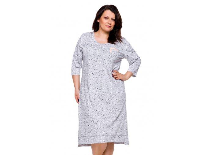 Dámská košile Mela nadměrné velikosti se vzorem srdíček Taro