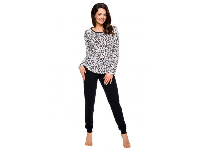 Dámské pyžamo Roza se vzorem geparda Taro