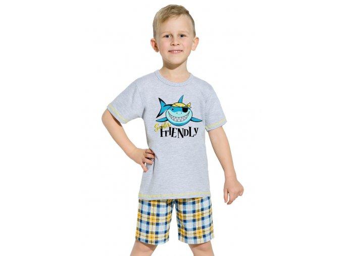Chlapecké pyžamo s kraťasy Franek s obrázkem žraloka Taro