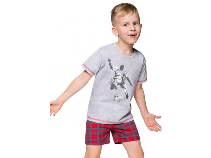 Chlapecké pyžamo s kraťasy Franek s obrázkem fotbalisty Taro