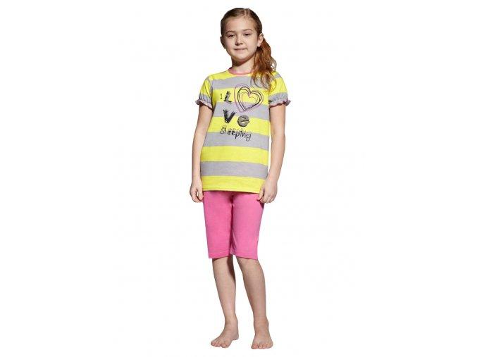 Dívčí dívčí pyžamo capri s nápisem I love sleeping Taro
