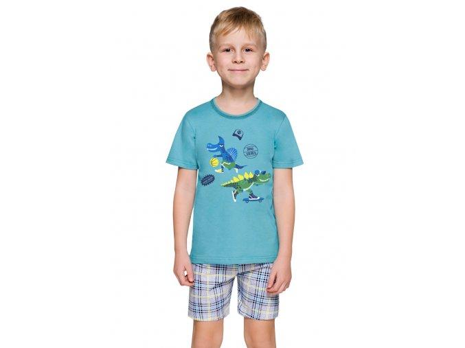 Chlapecké pyžamo Damian s obrázkem dinosaura a kraťasy Taro