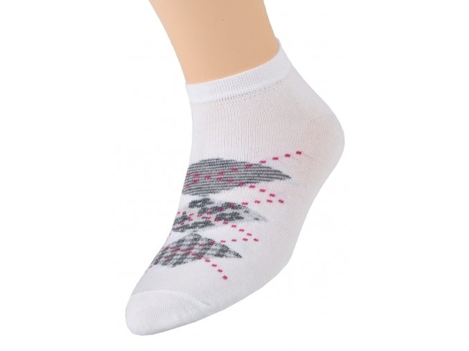 Dívčí kotníkové ponožky se vzorem kosočtverců 004/302