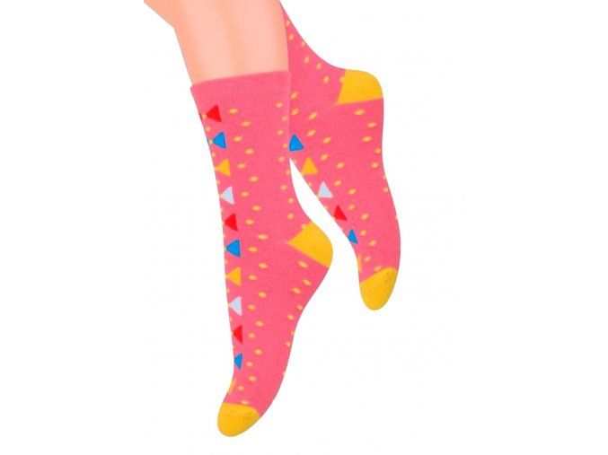 Dívčí klasické ponožky se vzorem puntíků 014/127 Steven