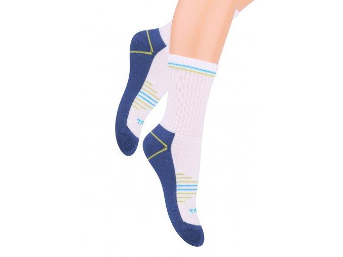 Chlapecké klasické ponožky polofrofé s nápisem Sport 020/25 STEVEN