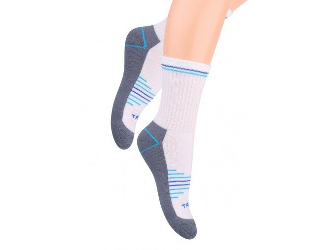 Chlapecké klasické ponožky polofrofé s nápisem Sport 020/24 STEVEN