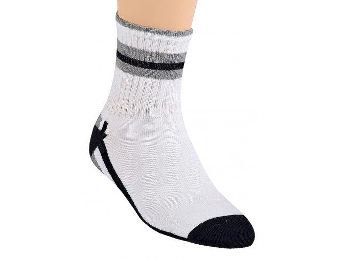 Chlapecké klasické ponožky polofrofé se vzorem pruhu 020/92 Steven