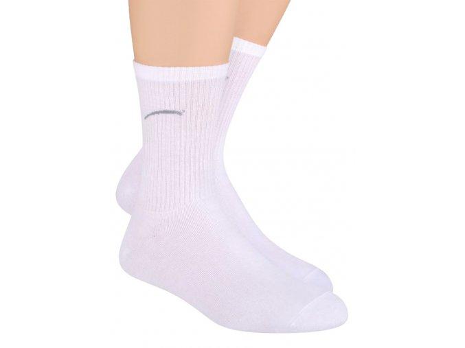 Chlapecké klasické ponožky jednobarevné s logem 022/1 Steven