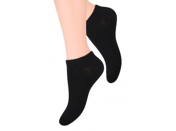 Dámské nízké ponožky jednobarevné s elastiským pruhem STEVEN