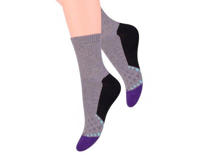 Dámské sportovní ponožky s nápisem Power STEVEN 026/113