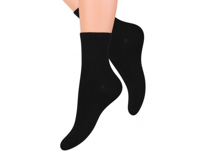 Dámské klasické ponožky jednobarevné STEVEN