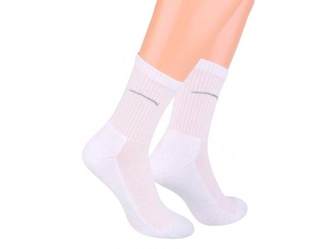 Pánské klasické ponožky polofrofé jednobarevné s logem 047