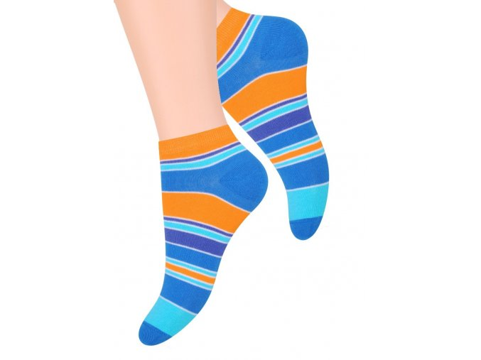Dámské kotníkové ponožky se vzorem pruhů  052/105 STEVEN