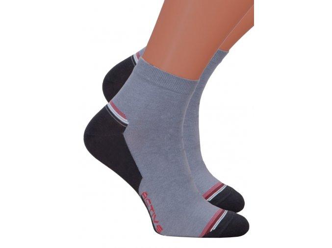 Pánské kotníkové ponožky 054/118 STEVEN