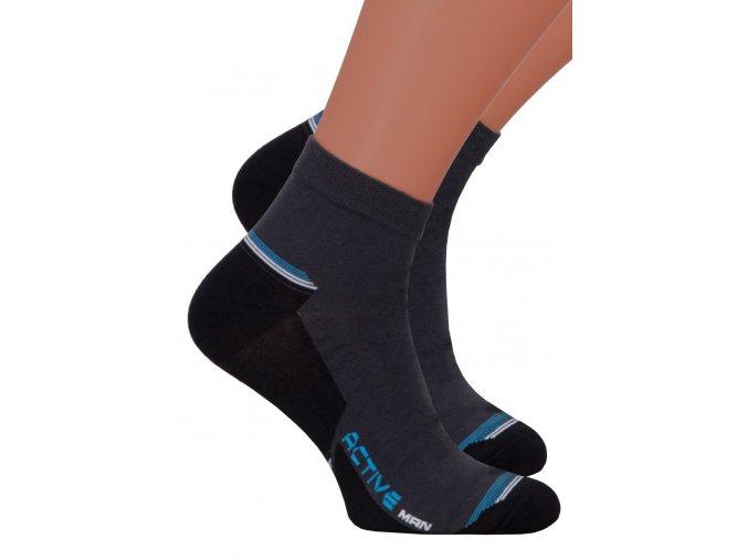 Pánské kotníkové ponožky 054/119 STEVEN