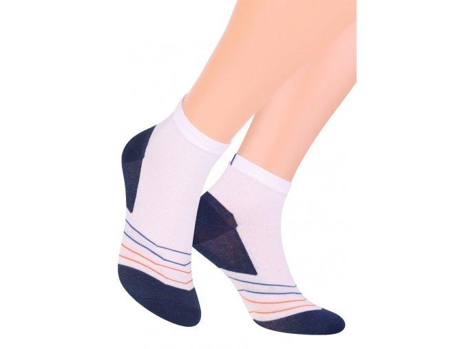 Pánské kotníkové ponožky sport se vzorem jemných proužků 054/141 STEVEN