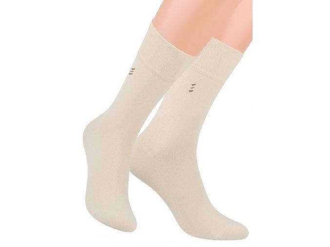 Pánské oblekové ponožky se vzorem proužků 056/5 STEVEN
