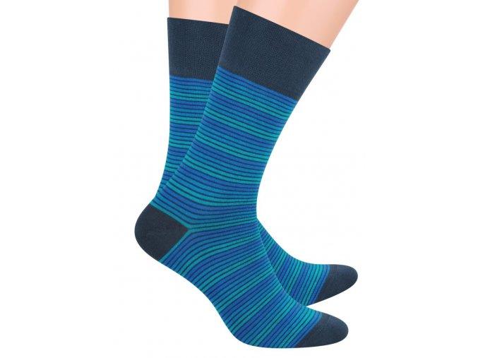 Pánské oblek ponožky se vzorem drobných proužků STEVEN 056/72