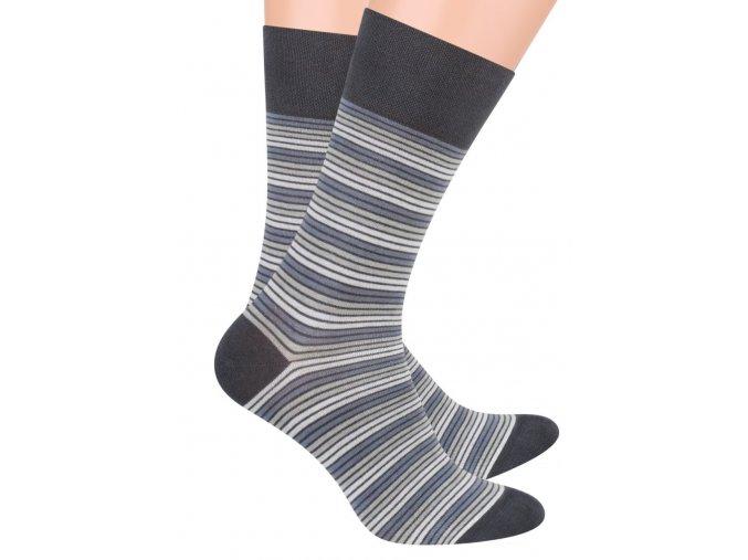 Pánské oblek ponožky se vzorem drobných proužků STEVEN 056/73