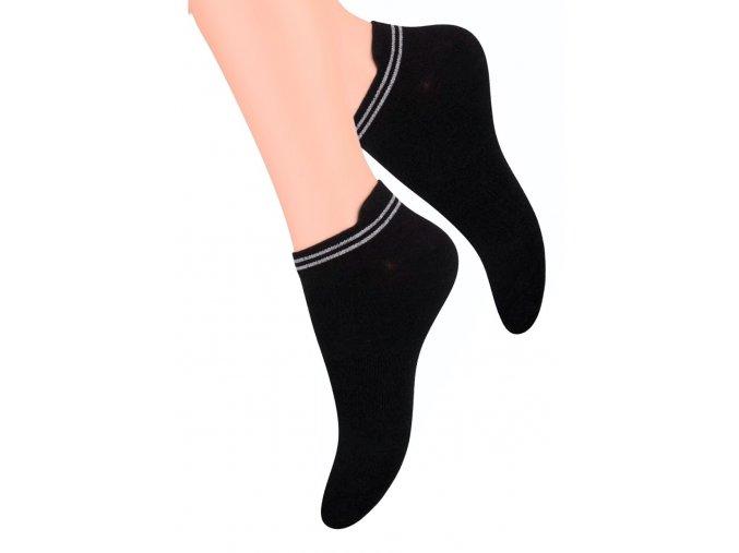 Dámské kotníkové ponožky s jazýčkem STEVEN 091
