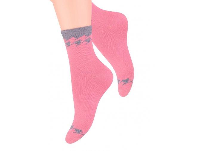 Dámské ponožky se vzorem kohoutí stopy Steven 099/304