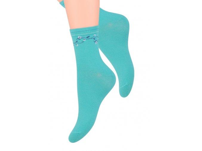 Dámské ponožky se vzorem drobné květy na kotníku Steven 099/232