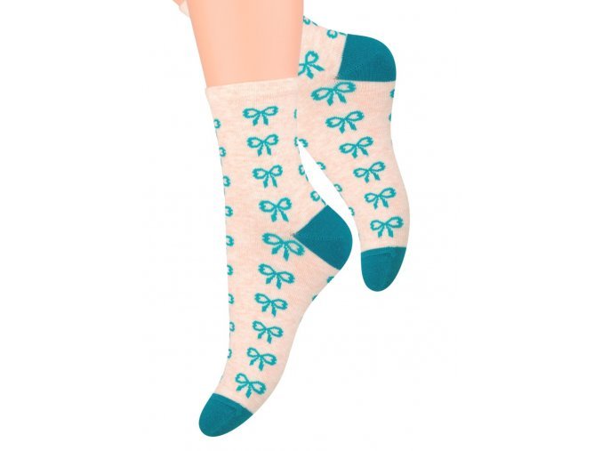 Dámské ponožky se vzorem mašle Steven 099/261