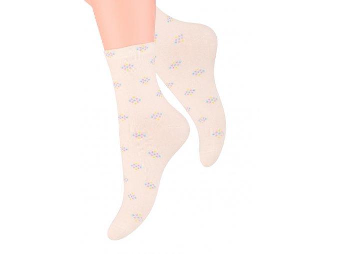 Dámské ponožky se vzorem káry Steven 099/309
