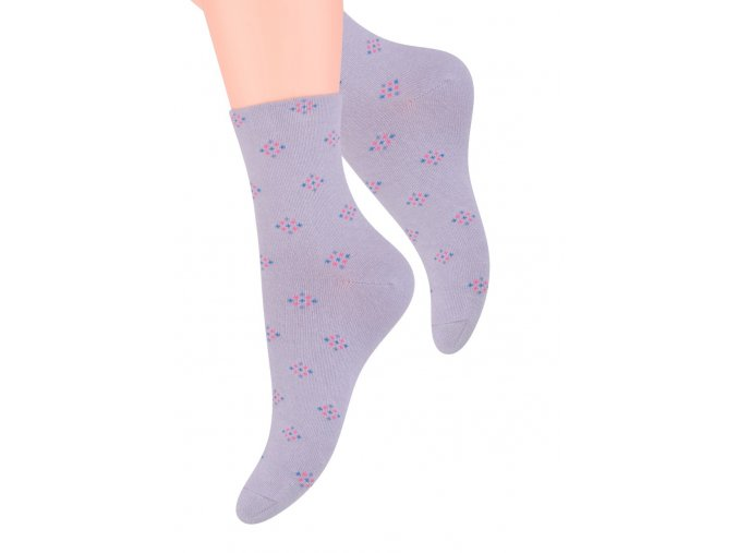 Dámské ponožky se vzorem káry Steven 099/310