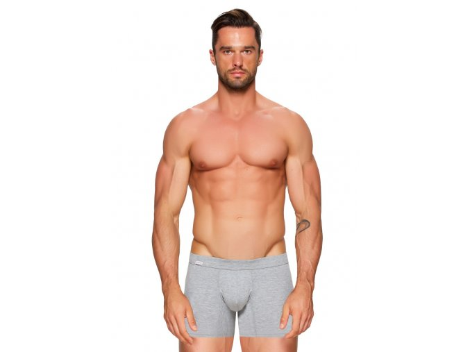 Pánské jednobarevné boxerky s delší nohavičkou Amante Fabio
