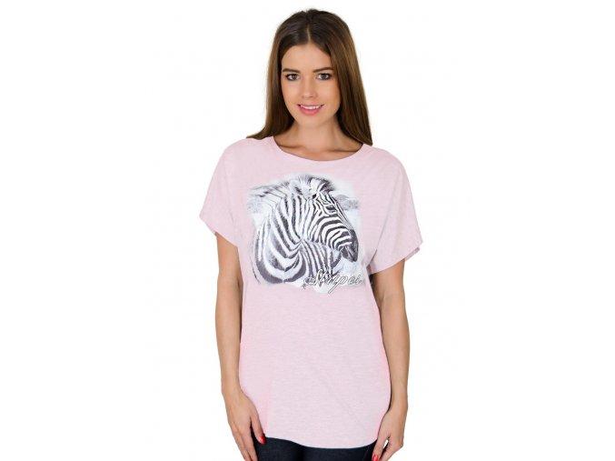 Dámské tričko 56/2-1/A2 s obrázkem zebry Fabio