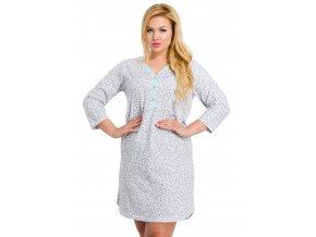 Dámská košile Roxa nadměrné velikosti s květinovým vzorem Taro