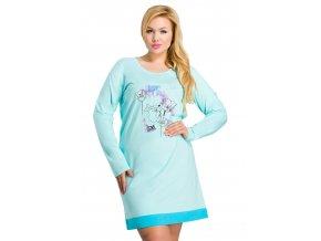 Dámská košile Viva nadměrné velikosti s obrázkem květiny Taro