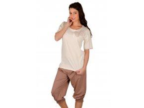 Dámské pyžamo Adela s velkou mašlí a capri kalhotami Taro